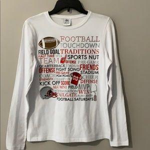 TRENDY FOOTBALL Longsleeve Textured Shirt NWT